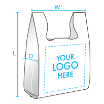 T-Shirt / Shop Towel Bags (Dimensions)