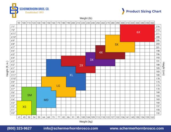 Product Sizing Chart